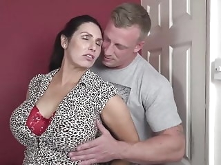 Booty busty mom suck and fuck lucky son amateur mature