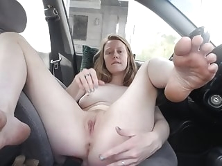 Redhead Faith Hatch - Finger me at the rest stop public nudity top rated