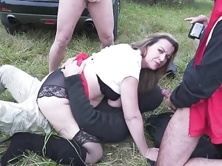Mature mother fucks in all holes outdoor anal blowjob