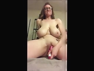 Huge Saggy Tit Mom With Glasses Toys Her Cunt amateur sex toy