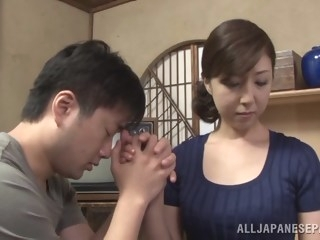 Hot mature Asian housewife enjoys getting position 69 asian japanese