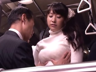 Japanese whore fucked and facialized in a bus japanese public