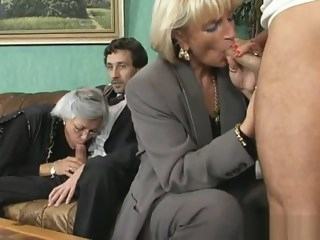 Old sluts get double fucked mature anal