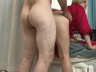 Stepmom lets her stepson fuck her while folding clothes - Erin Electra step fantasy straight