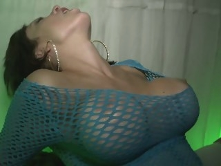 As the bottles got emptied the clothes slid off big tits brunette