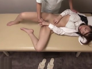 Japanese massage turned in hottest sex big tits interracial